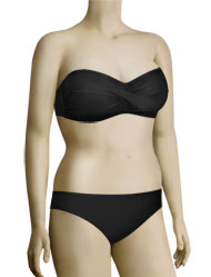 Sunsets Underwire Twist Bandeau Bikini Top 55 - Black