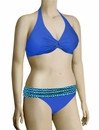 Sunsets Underwire Twist Halter Bikini Top 59 - Tile Blue