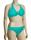 Sunsets Nautical Net Underwire Twist Halter Bikini Top 59NNTR - Tropical Teal