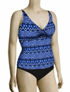 Sunsets Underwire Twist Tankini Top 377T - Indigo