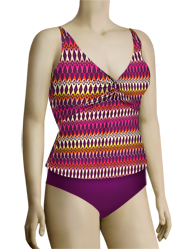 Sunsets Underwire Twist Tankini Top 77 - Horizon