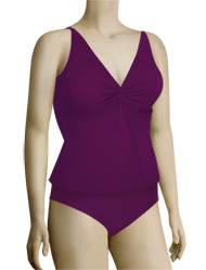 Sunsets Underwire Twist Tankini Top 77 - Plum