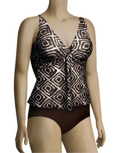 Sunsets Underwire Twist Tankini Top 77 - Kenya