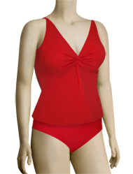 Sunsets Underwire Twist Tankini Top 77 - Ruby