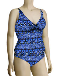 Sunsets Underwire Twist Tankini Top 77 - Indigo