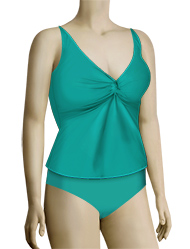 Sunsets Underwire Twist Tankini Top 77 - Tropical Teal