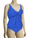 Sunsets Underwire Twist Tankini Top 77 - Tile Blue
