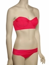 Swim Systems Bustier Bandeau Underwire Bikini Top H625 - Red Currant