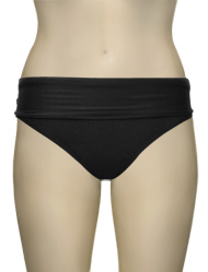 Swim Systems Convertible Roll Up-Down Bikini Bottom G240 - Onyx