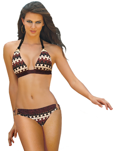 Swim Systems Dakota Braided Halter Bikini Top D624 - Dakota
