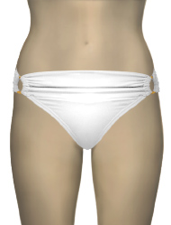 Swim Systems Diamond Shirred Banded Bikini Bottom E214 - Diamond