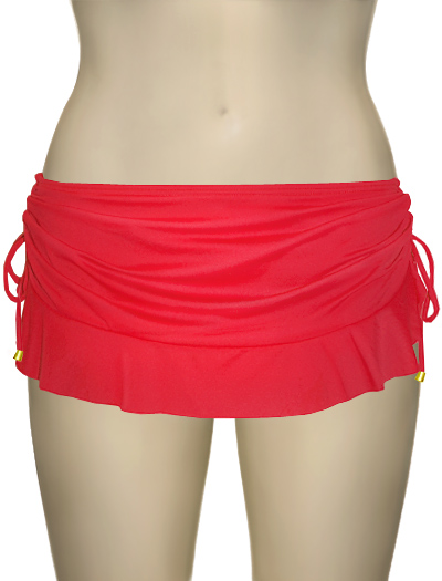Swim Systems Flirty Skirt With Attached Bikini Bottom F286 - Rojo