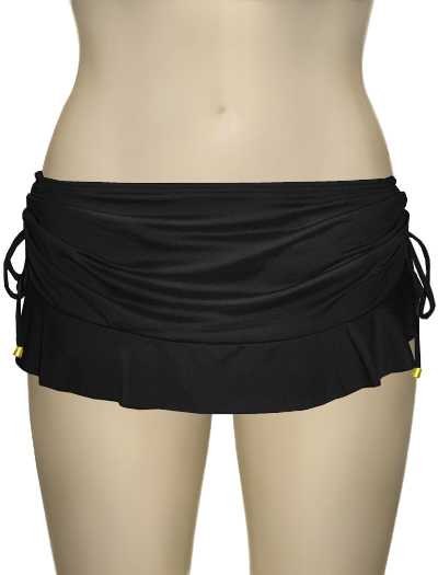 Swim Systems Flirty Skirt With Attached Bikini Bottom F286 - Onyx