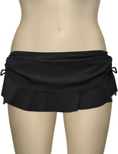 Swim Systems Flirty Skirt With Attached Bikini Bottom G286 - Onyx