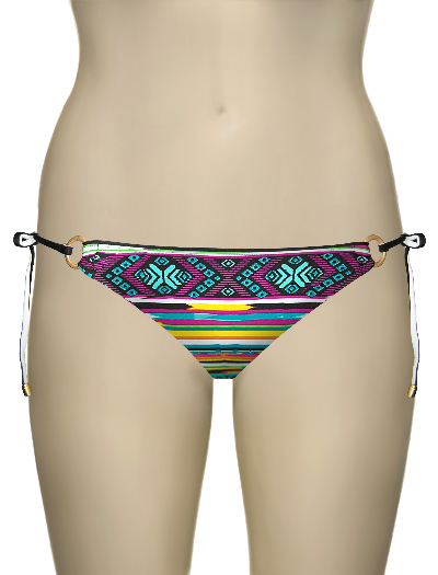 Swim Systems Phoenix Ring Tie Side Bikini Bottom D201 - Phoenix
