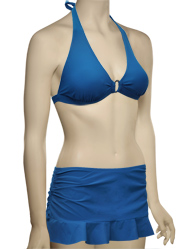 Swim Systems Ring Front Halter Bikini Top G621 - Topaz