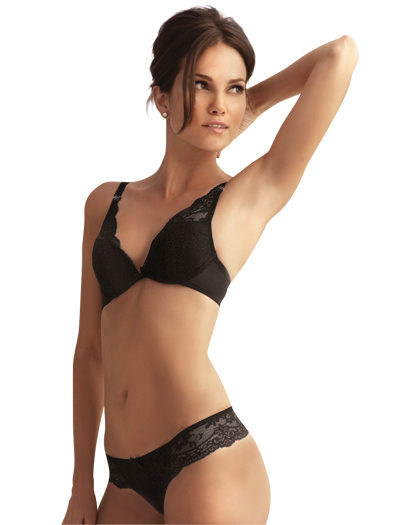 The Little Bra Company Lucia Convertible Push Up Bra E004C - Black