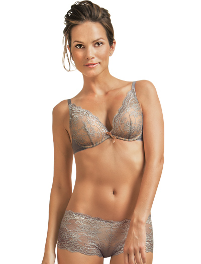 The Little Bra Company Lucia Convertible Push Up Bra E004C - Slate / Nude