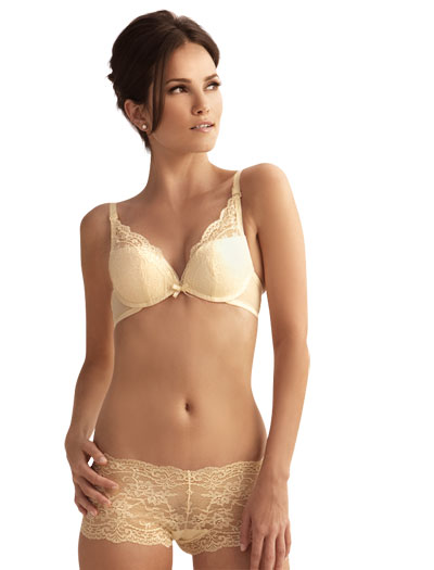 The Little Bra Company Lucia Convertible Push Up Bra E004C - Ivory