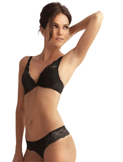 The Little Bra Company Lucia Push Up Bra E004 - Black