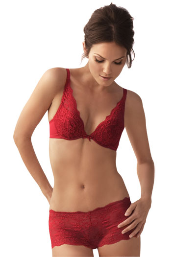 The Little Bra Company Lucia Push Up Bra E004 - Red