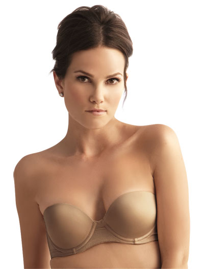 The Little Bra Company Sascha Push Up Strapless Bra F001 - Dark Nude