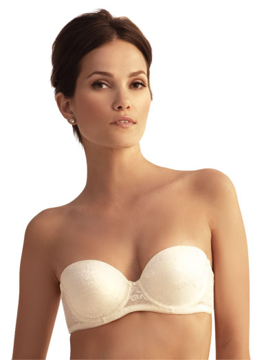 The Little Bra Company Sascha Push Up Strapless Bra F001 - Pearl