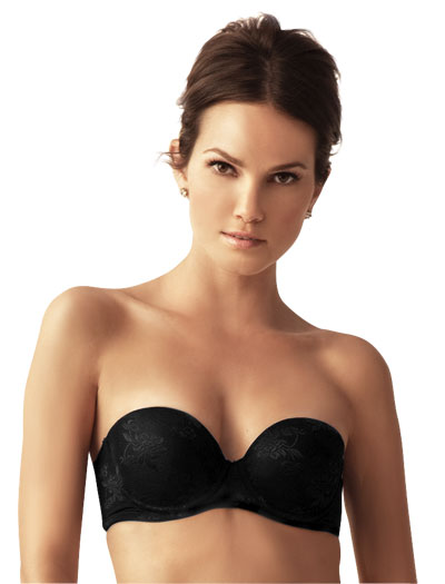The Little Bra Company Sascha Push Up Strapless Bra F001 - Black