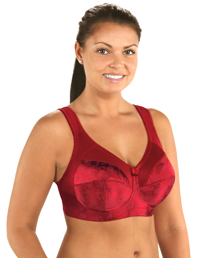 Venus Full Figure Super Support Banded Soft Cup Bra 7102 - Rio Red