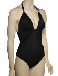 Vitamin A Modernist Bungalow Maillot Full Cut Swimsuit 46M - ECB
