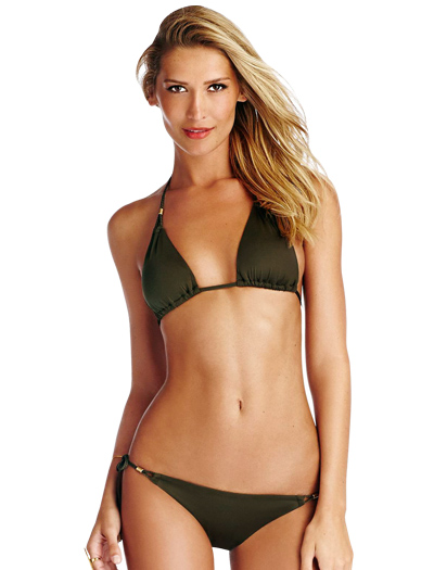 Vitamin A Serengeti Gwyneth Triangle Bikini Top 42T - PAL