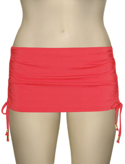 Voda Swim Adjustable Swim Skirt With Full Bikini Bottom B04 - Grapefruit