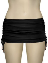 Voda Swim Adjustable Swim Skirt With Full Bottom B04 - Black