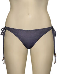 Voda Swim Double String Bikini Bottom B05 - Charcoal