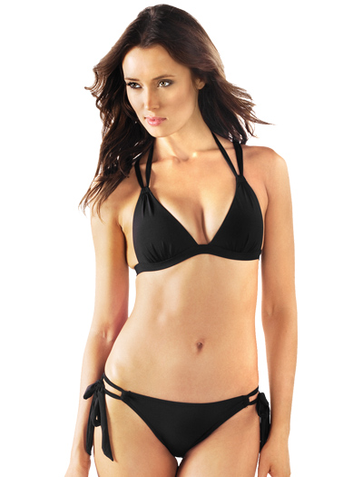 Voda Swim Envy Push Up Crisscross Bikini Top E21 - Black