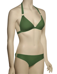 Voda Swim Envy Push Up Gold Hoop Bikini Top E08 - Olive