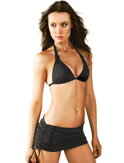 Voda Swim Envy Push Up Halter Bikini Top E03 - Black