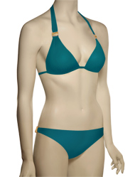 Voda Swim Envy Push Up Natural Stone Bikini Top E09 - Peacock