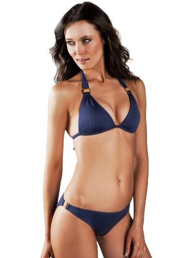 Voda Swim Envy Push Up Natural Stone Bikini Top E09 - Indigo