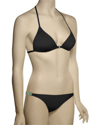 Voda Swim Envy Push Up Natural Stone String Bikini Top E11 - Black