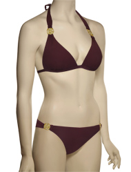 Voda Swim Envy Push Up Rose Halter Bikini Top E28 - Huckleberry