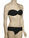 Voda Swim Envy Push Up Twist Bandeau Bikini Top E18 - Black