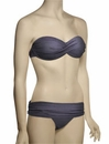 Voda Swim Envy Push Up Twist Bandeau Bikini Top E18 - Charcoal