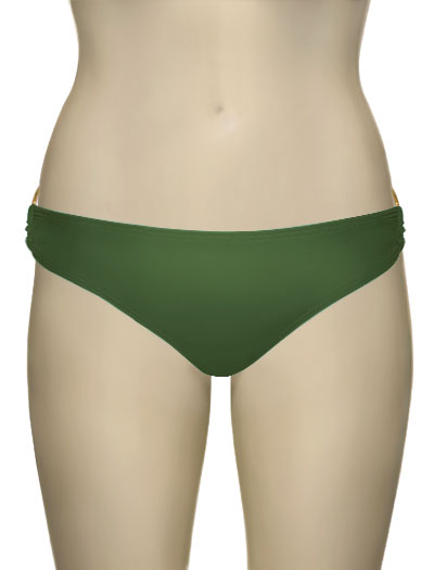 Voda Swim Gold Hoop Classic Cut Scoop Bottom B08 - Olive