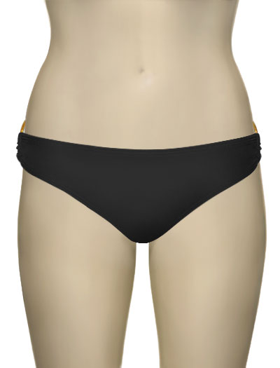 Voda Swim Gold Hoop Classic Cut Scoop Bottom B08 - Midnight