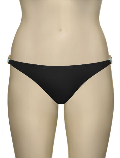 Voda Swim Natural Stone Hipster Bikini Bottom B11 - Black