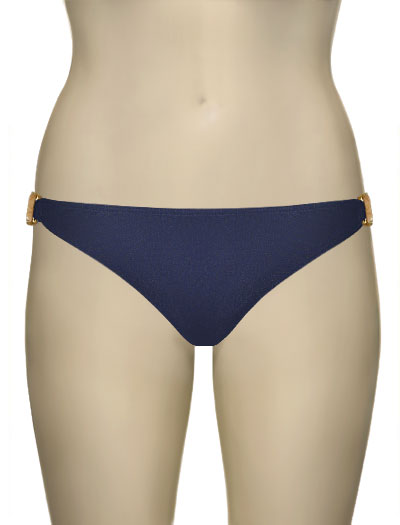 Voda Swim Natural Stone Scoop Bikini Bottom B09 - Indigo