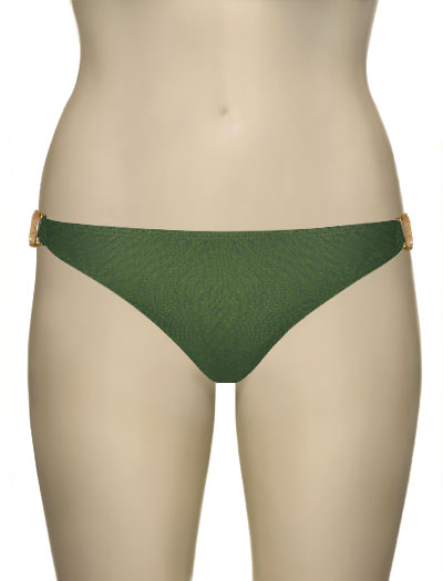 Voda Swim Natural Stone Scoop Bikini Bottom B09 - Olive