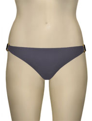 Voda Swim Natural Stone Scoop Bikini Bottom B09 - Charcoal