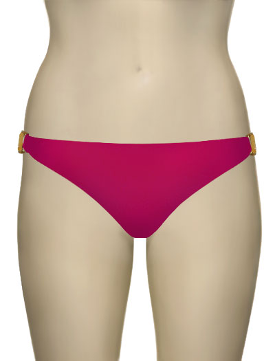 Voda Swim Natural Stone Scoop Bikini Bottom B09 - Raspberry